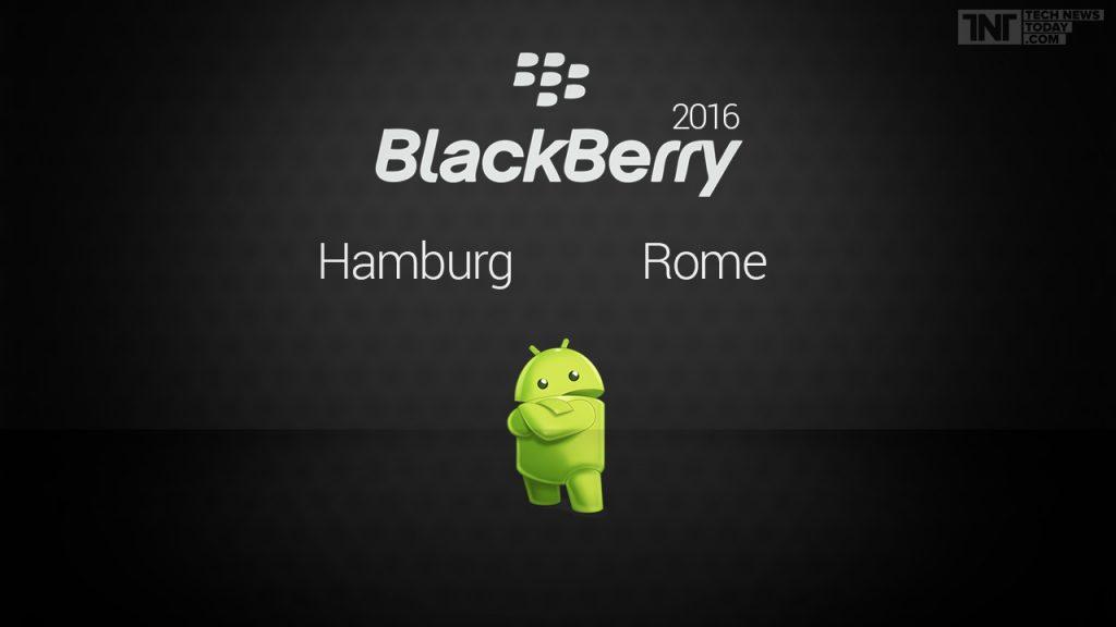 blackberry hamburg and rome smartphones