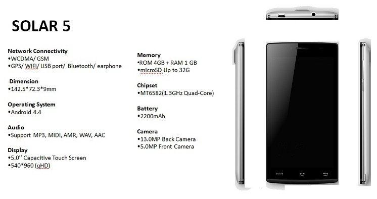 StarTimes Solar 5 phone