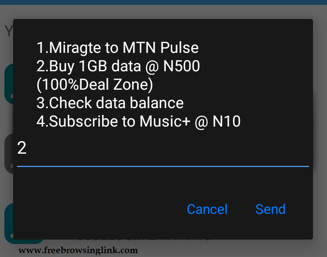 mtn 1gb for 500
