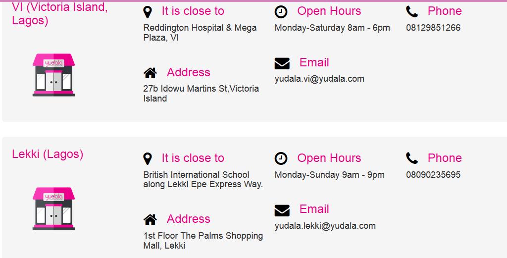 Yudala Online Shopping Stores