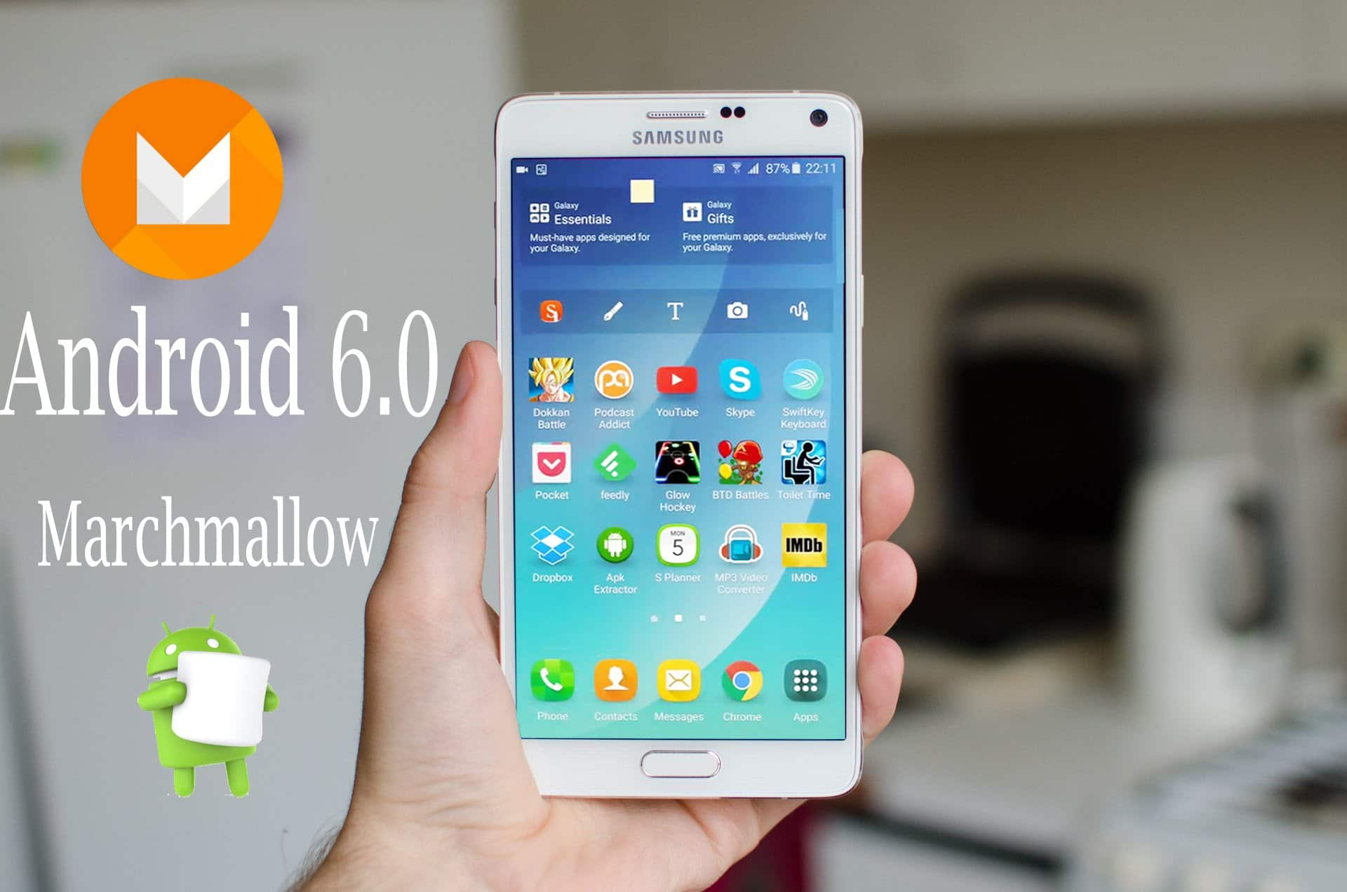 android 6.0 marshmallow version samsung note 4