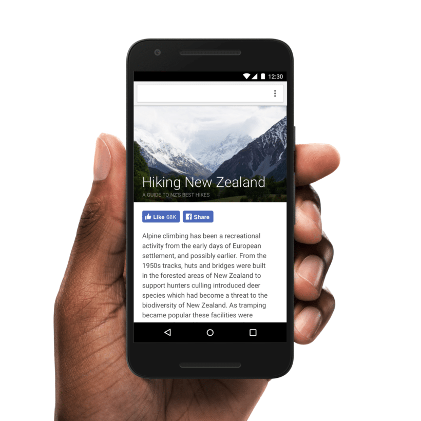 facebook new Mobile buttons