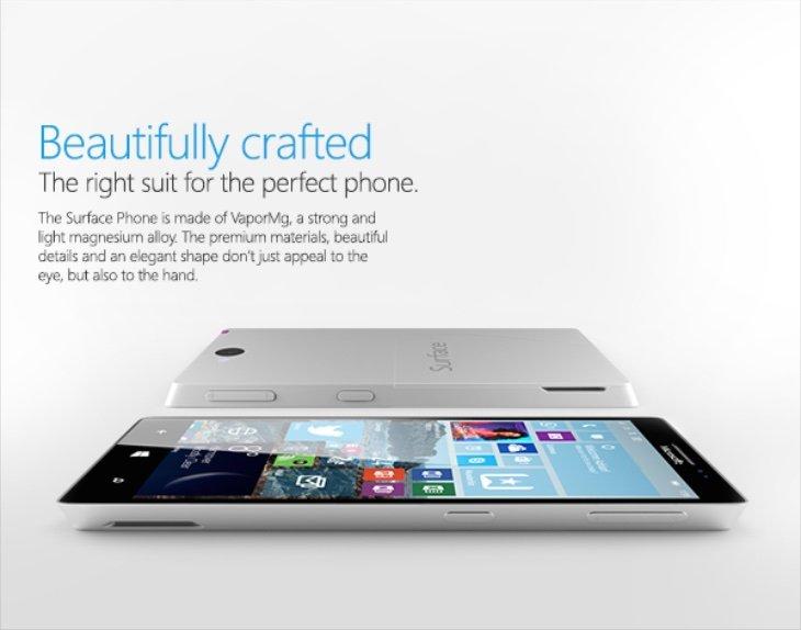 microsoft Surface Phone design