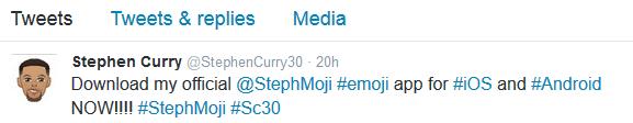 stephen emoji tweets