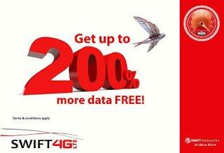 swift 4g lte data