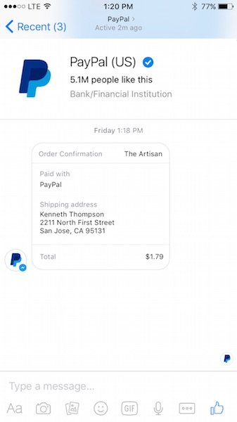 fb-messenger-supports-paypal-transaction