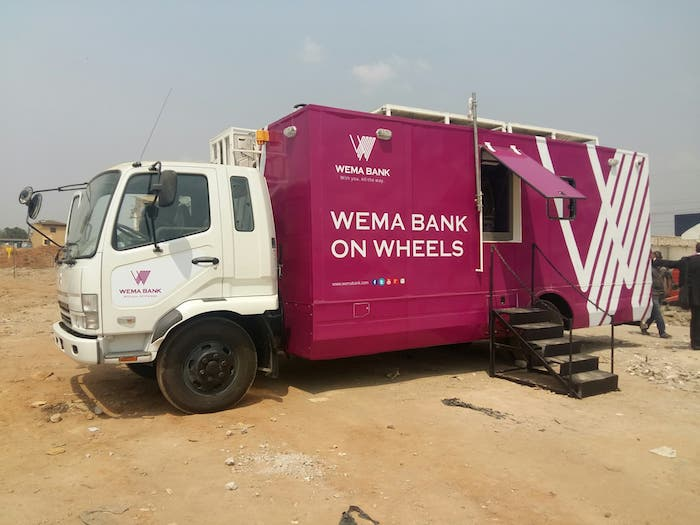 wema bank mobile branch solar powered