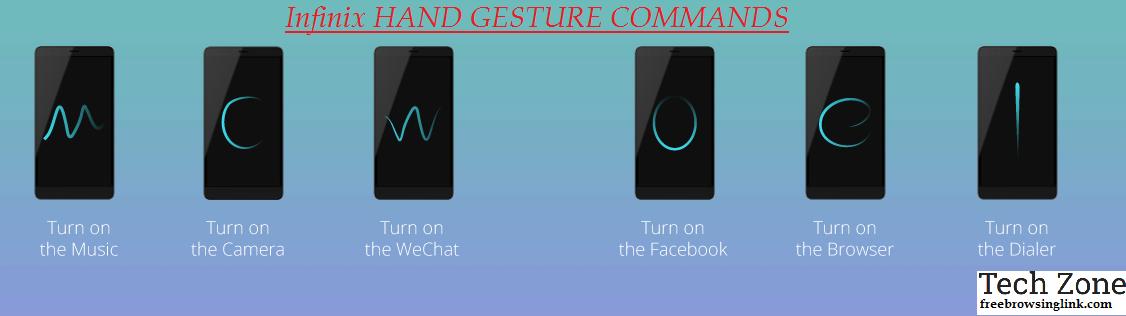 infinix HAND GESTURE COMMANDS