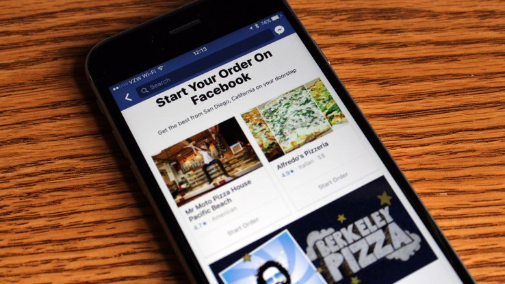 facebook new option to order food