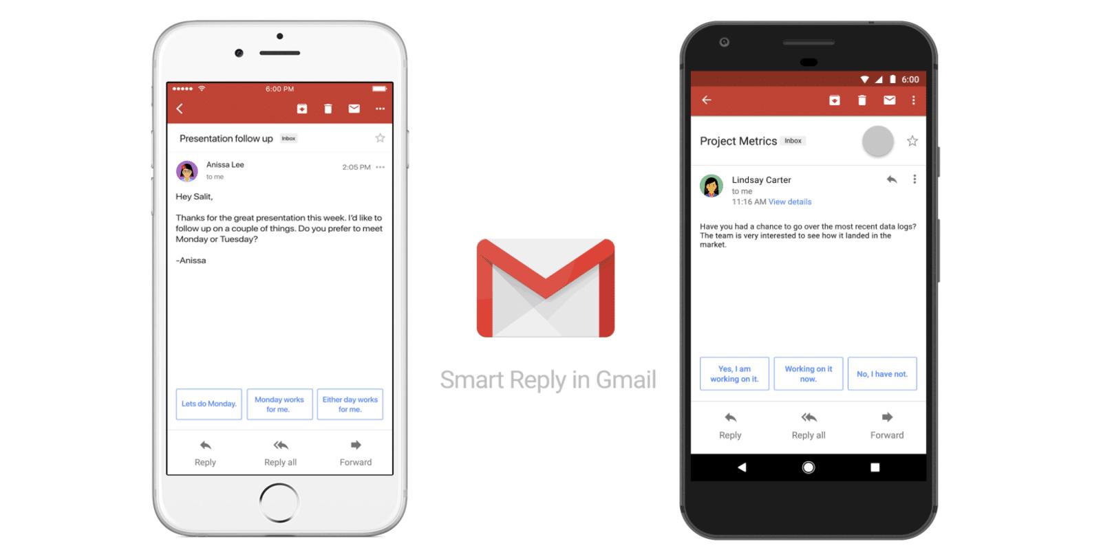 google gmail smart reply