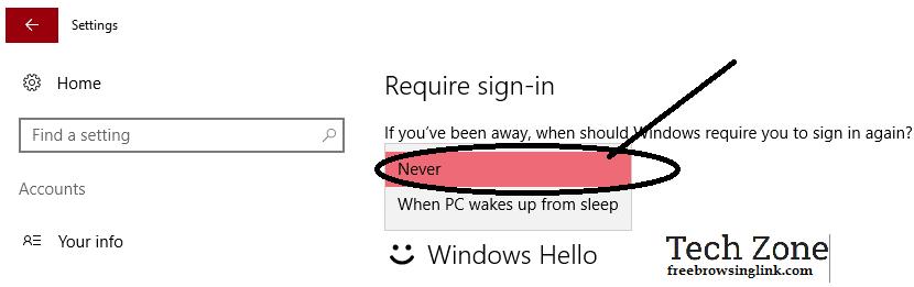 run laptop without password5