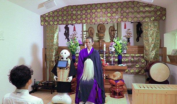 pepper robot preside over funeral