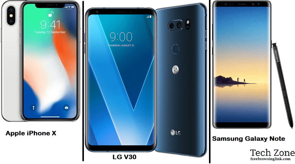 iPhone x vs Lg v30 vs Galaxy Note 8