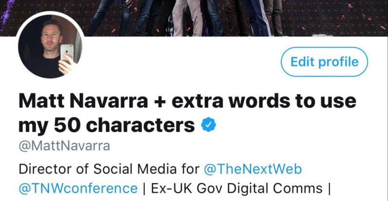 Twitter 50 words character name