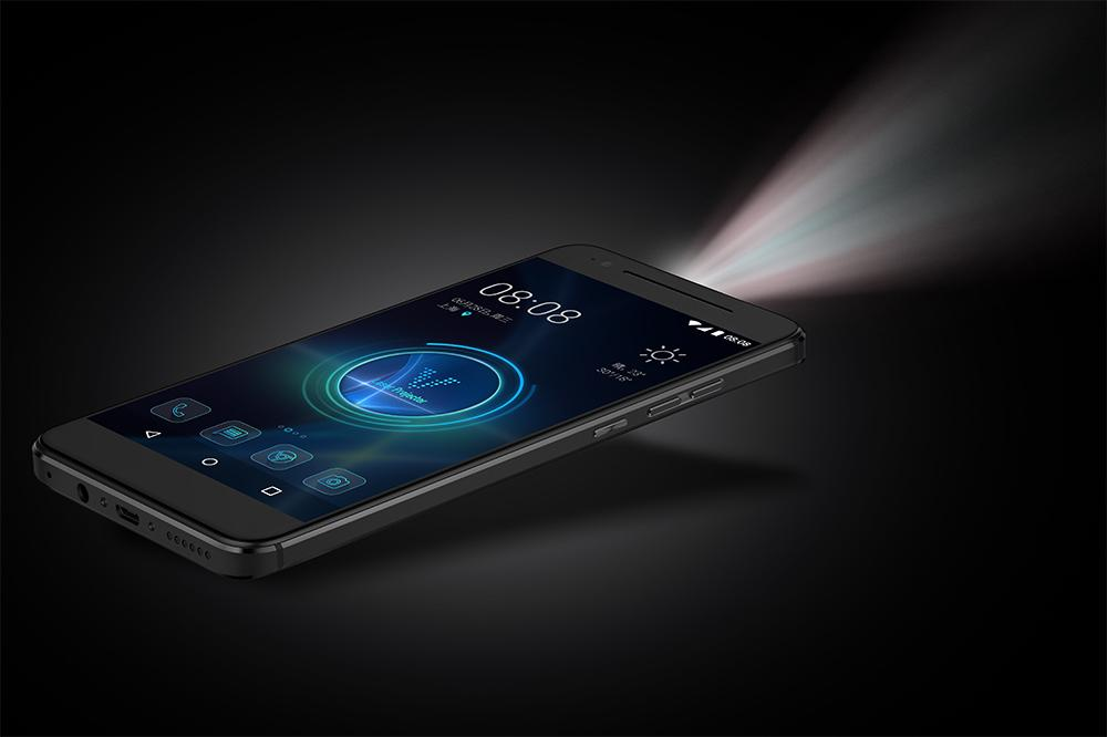 Movi phone is an Android device with a built-in projector