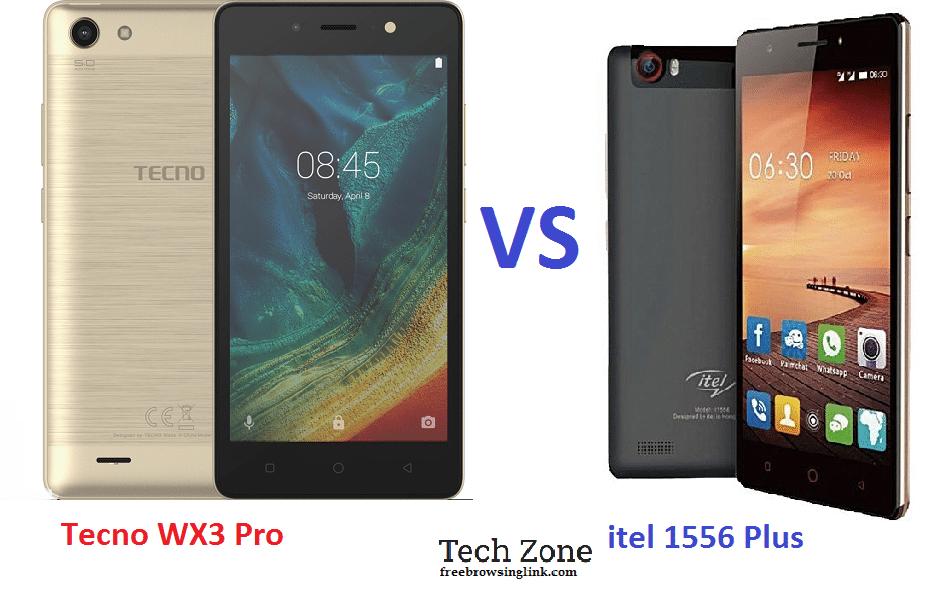 Tecno WX3 P (Pro) vs itel 1556 Plus