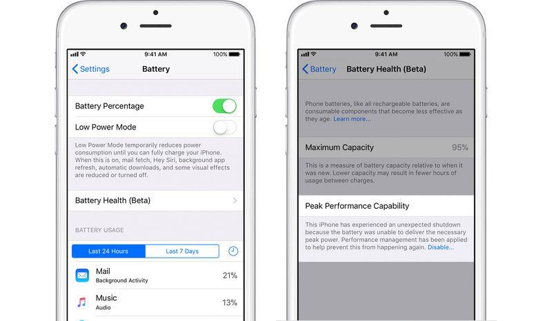 Apple battery percentage