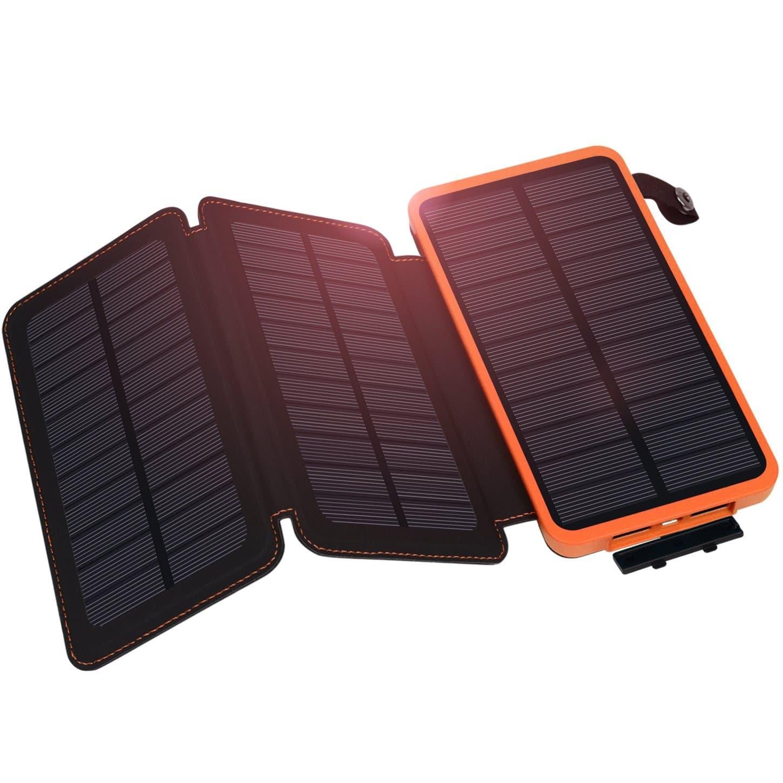 Hiluckey Waterproof Solar Power Bank