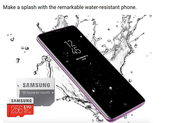 galaxy s9 micro sd card
