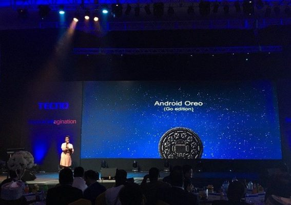 Tecno phone with Android Go Oreo