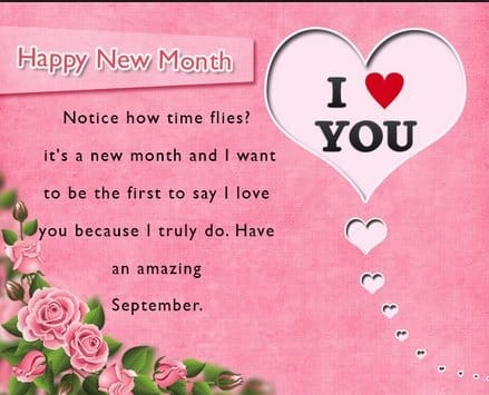 happy new month for love