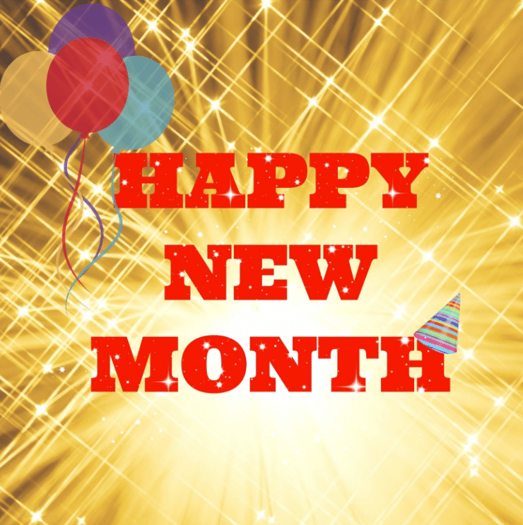 happy new month sms