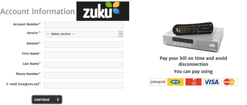 zuku online payment
