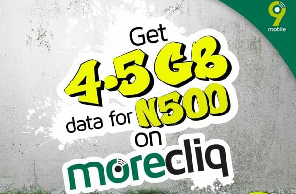 9mobile 4.5GB For N500
