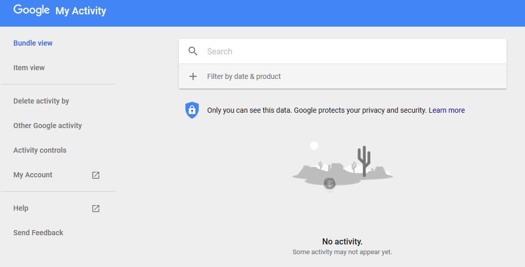 Google activity delete account