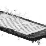 Here is a waterproofed Amazon Kindle Paperwhite