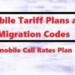 9mobile Tariff Plans and Migration Codes - 9mobile Call Rates Plan