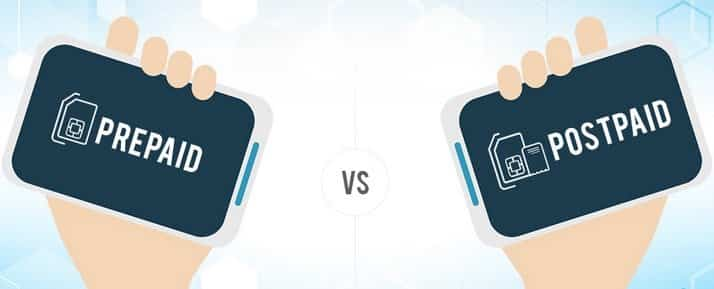 Prepaid vs postpaid mobile network plan