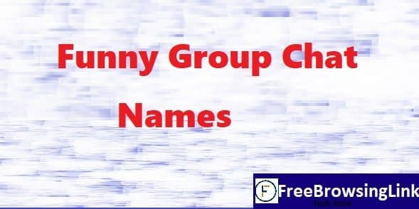 funny group chat names