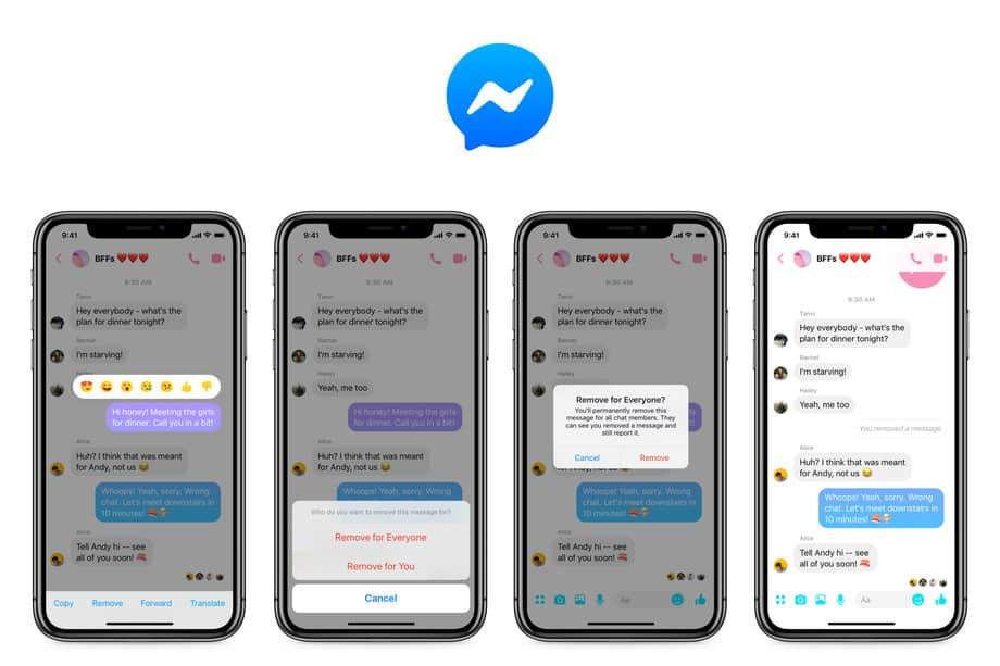 facebook messenger unsend feature