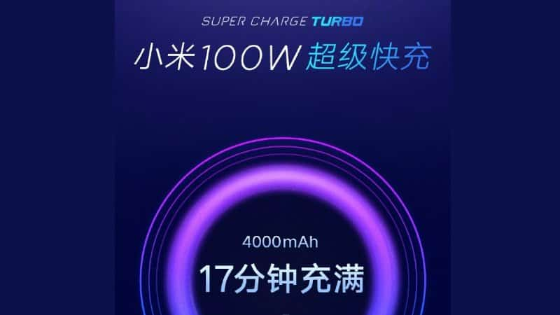 Xiaomi 100W Super Charge Turbo Tech