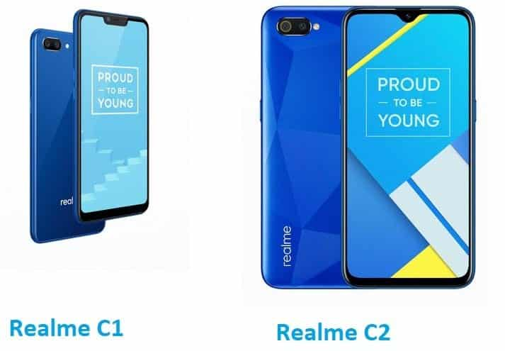 Realme C2 vs Realme C1