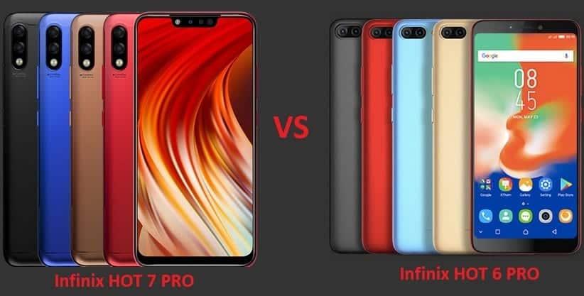 Infinix HOT 7 PRO vs HOT 6 PRO