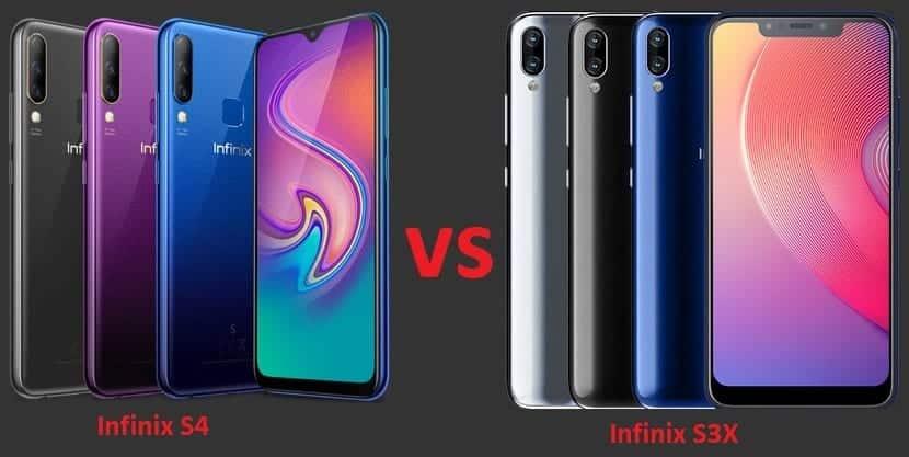 Infinix S4 vs Infinix S3X