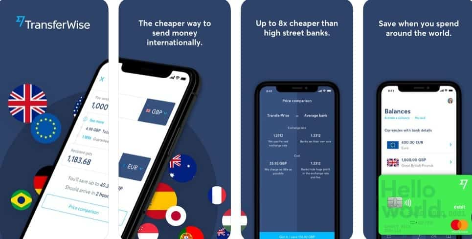transferwise app on iphone