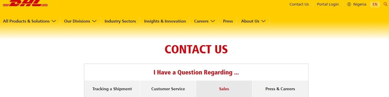 dhl contact