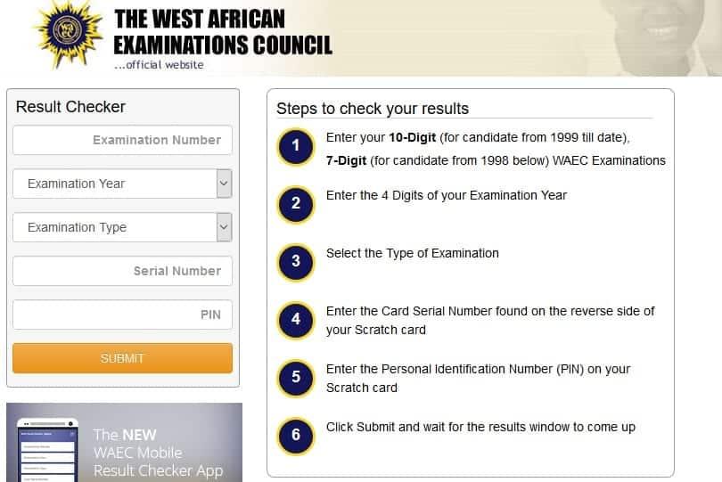 check waec results online 2019