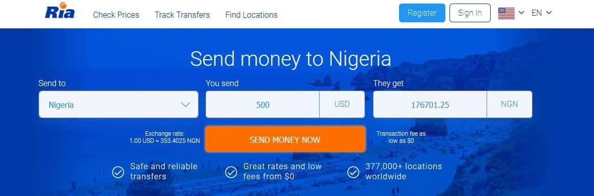 ria money transfer nigeria