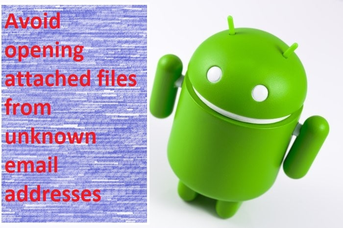 Avoid opening attached files from unknown or suspicious email addresses