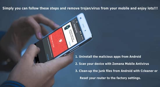Trojan virus remover for android