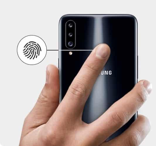 Galaxy A20s rear fingerprint scanner