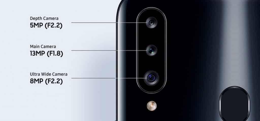 Samsung Galaxy A20s triple rear camera