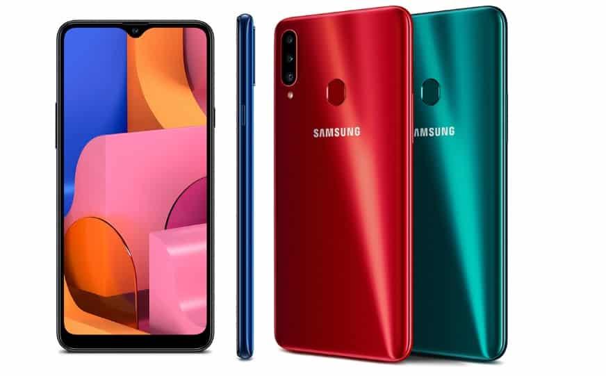 Samsung galaxy a20s glossy design