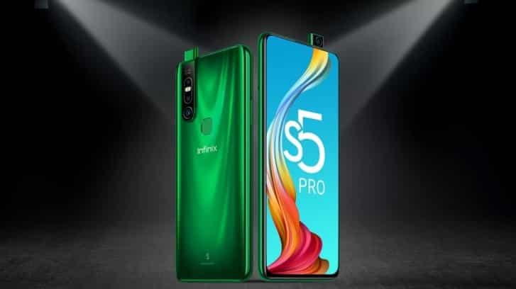 Infinix S5 Pro pop-up selfie camera