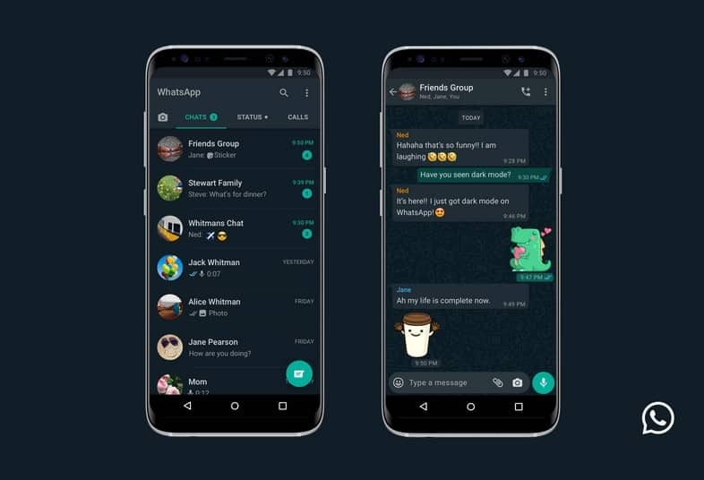whatsapp dark mode for android
