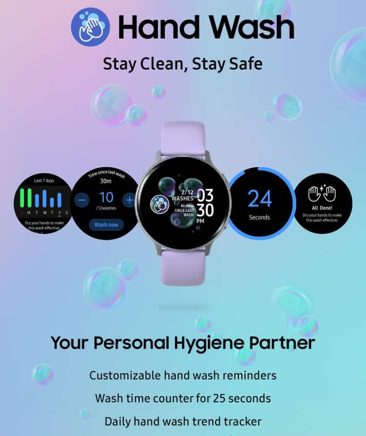 Samsung announces hand wash app to galaxy watch